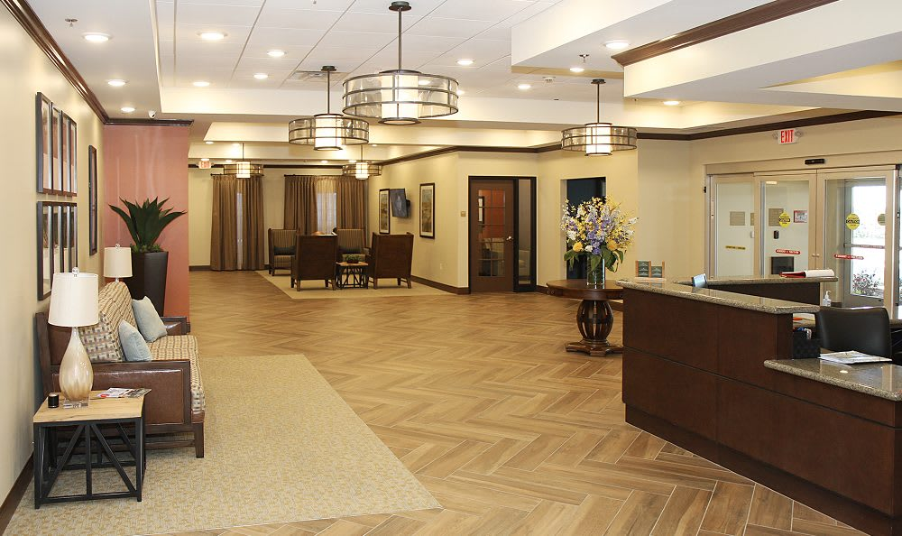 Spacious living room at Cedar Bluff Assisted Living & Memory Care