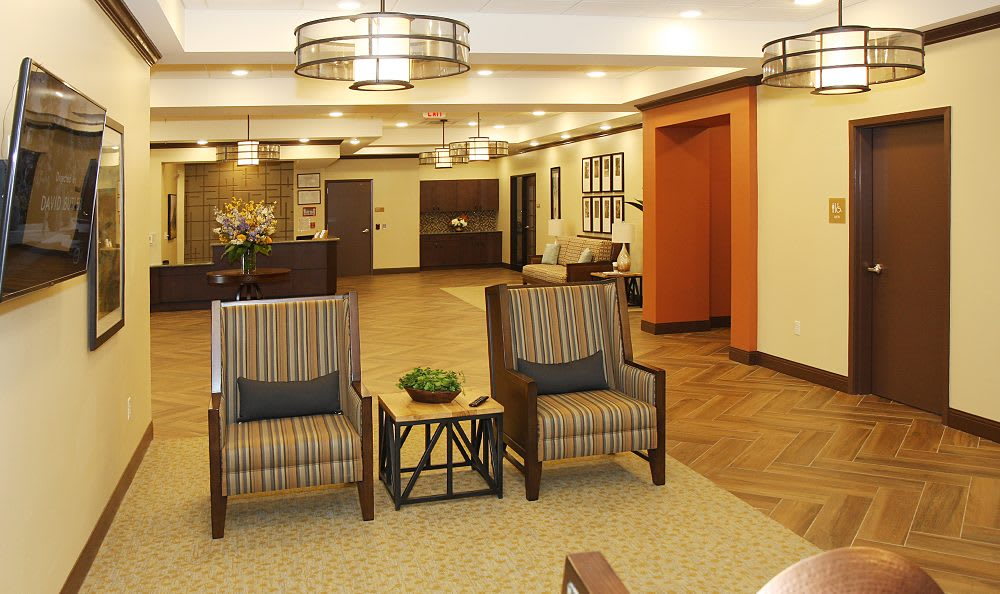 Living room at Cedar Bluff Assisted Living & Memory Care