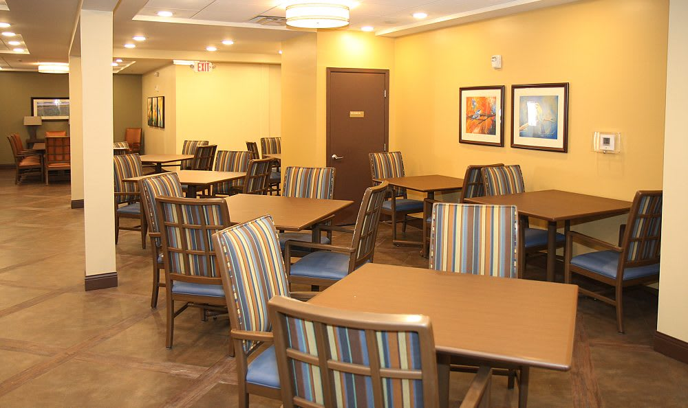Dining hall at Cedar Bluff Assisted Living & Memory Care