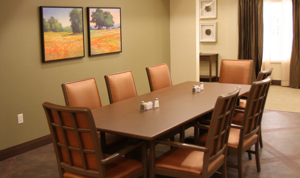 Dining room at Cedar Bluff Assisted Living & Memory Care