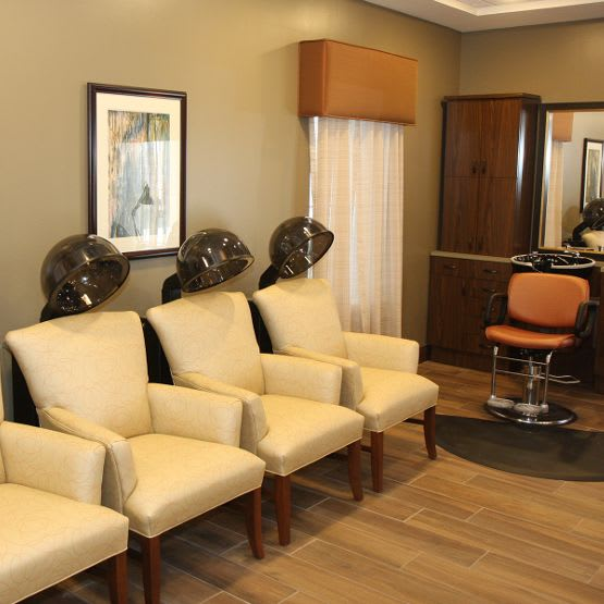 beauty salon at Cedar Bluff Assisted Living & Memory Care in Mansfield,TX