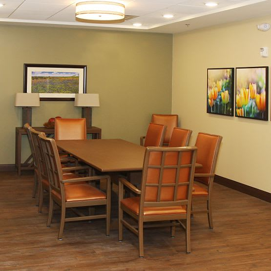 dining room at Cedar Bluff Assisted Living & Memory Care in Mansfield,TX