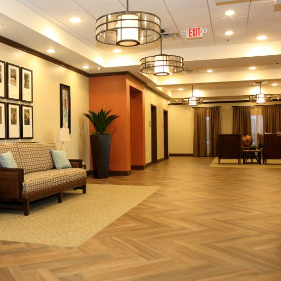 waiting lobby at Cedar Bluff Assisted Living & Memory Care in Mansfield,TX