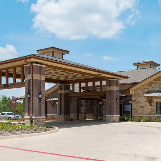 entrance at Cedar Bluff Assisted Living & Memory Care in Mansfield,TX