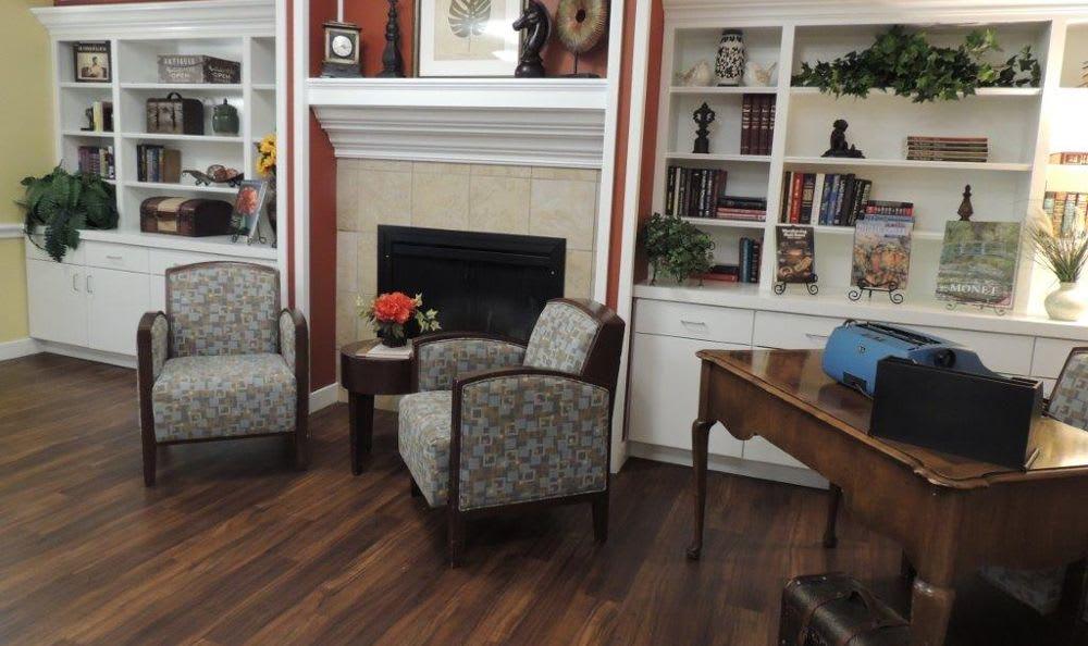 well decorated chimney room at Storey Oaks of Oklahoma City in Oklahoma City,OK