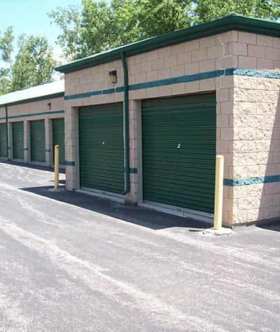 Outdoor self storage units at Mini Storage Depot in Grandville, Michigan.
