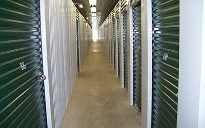 Well lit hallways at Mini Storage Depot