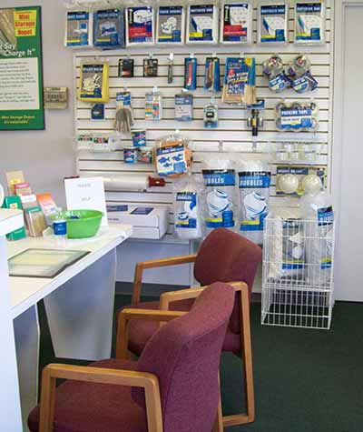 Packing supplies are available at Mini Storage Depot