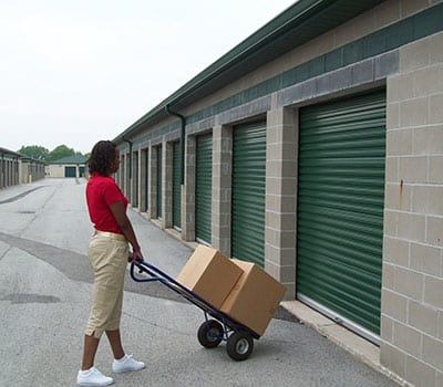 Drive up storage units at Mini Storage Depot