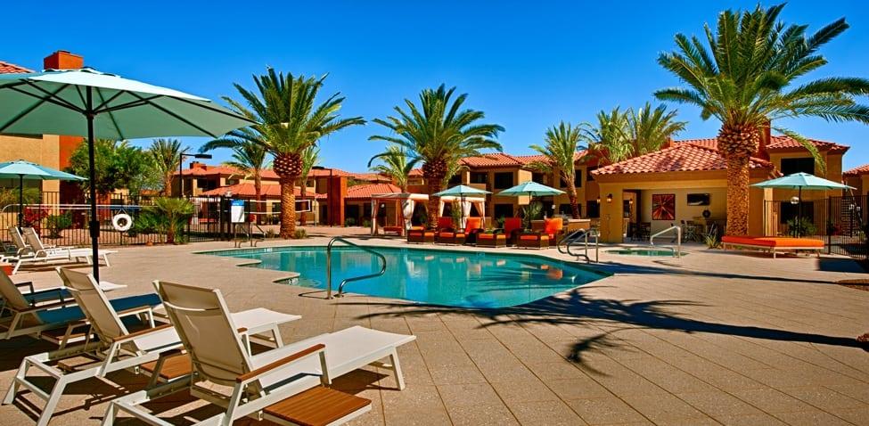 Pool deck at Sonoran