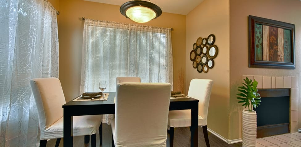 Dining room at Sonoran Apartment Homes