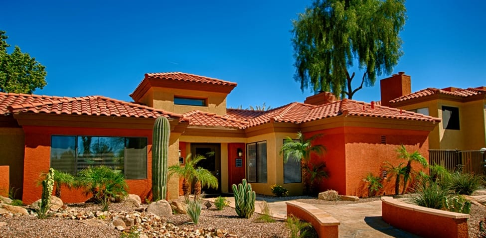 Front view of apartment home at Sonoran