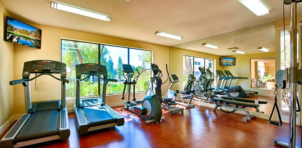 Fitness center at The Enclave