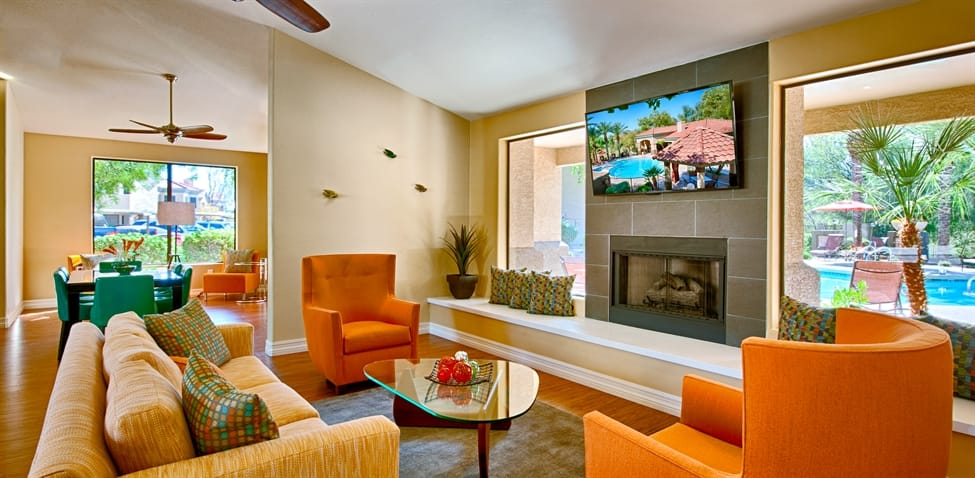 Living Room at The Enclave