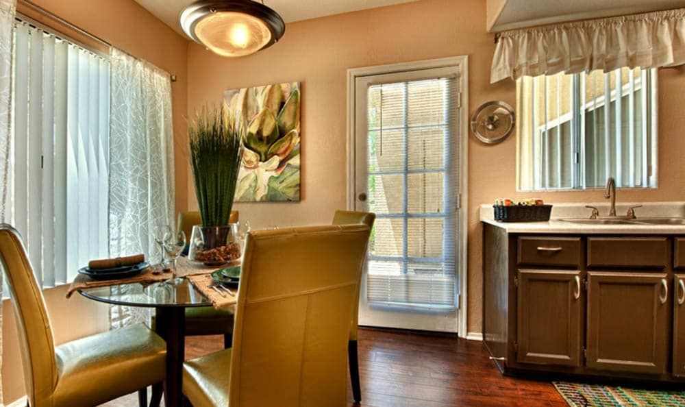 Dining Room Area At Village at Lakewood