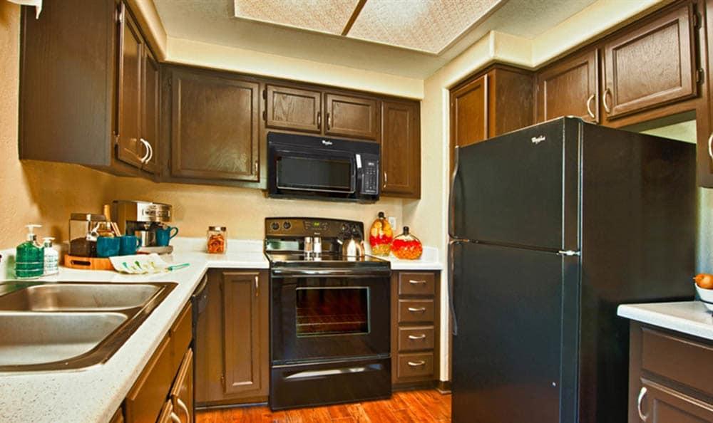 Kitchen Area At Village at Lakewood