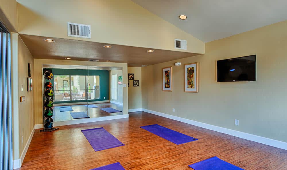Yoga Room At Village at Lakewood