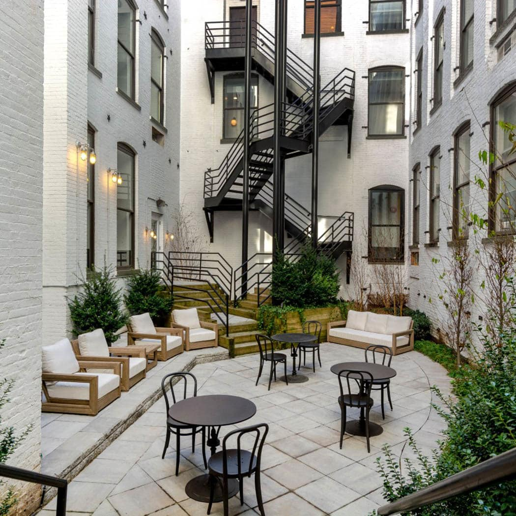 courtyard at Grand Adams