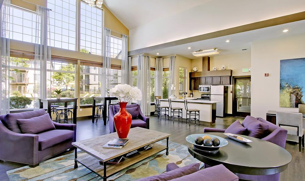 clubhouse living at Avana 522 Apartments in Bothell, WA