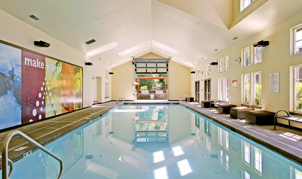 indoor swimming pool at Avana 522 Apartments in Bothell, WA
