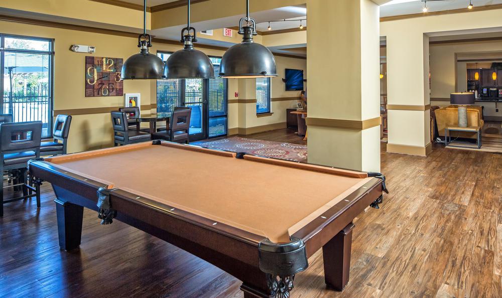 pool table at Avana Highland Ridge Apartments in Columbus, GA