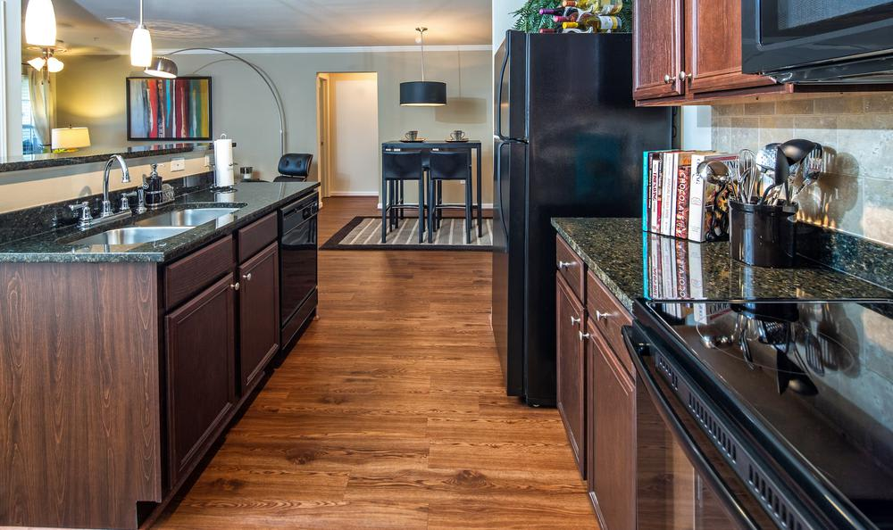 spacious and fully equipped kitchen at Avana Highland Ridge Apartments in Columbus, GA
