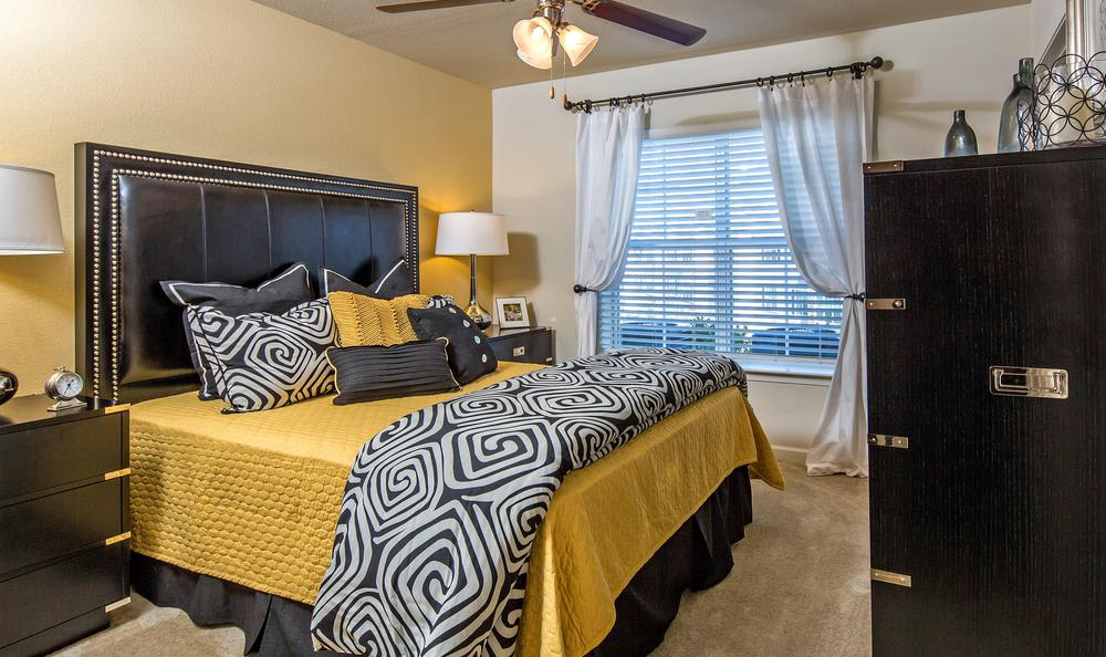 well decorated bedroom at Avana Highland Ridge Apartments in Columbus, GA