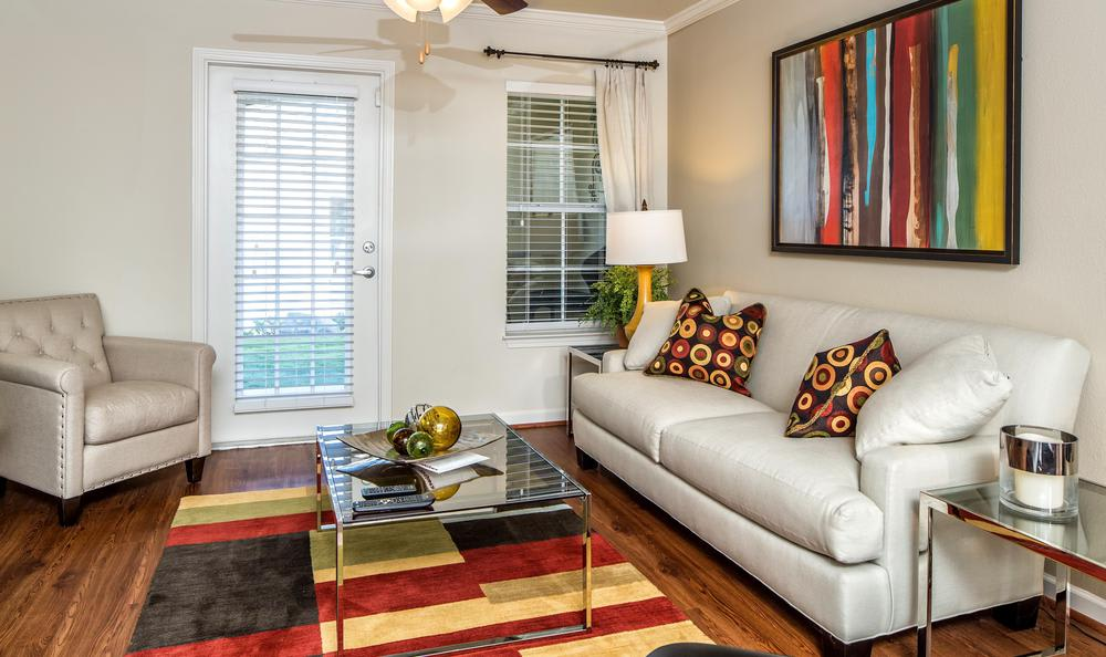 well decorated living room at Avana Highland Ridge Apartments in Columbus, GA