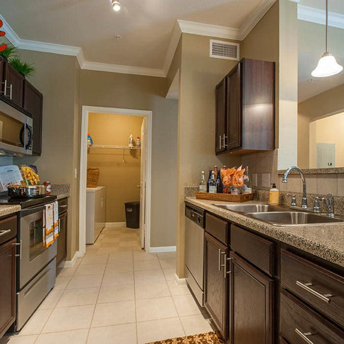 Upgraded kitchen at Avana at South Shore Apartments