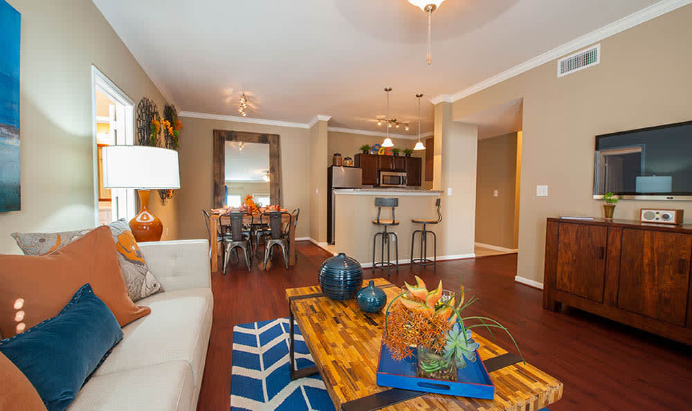 Living Room At Avana at South Shore Apartments