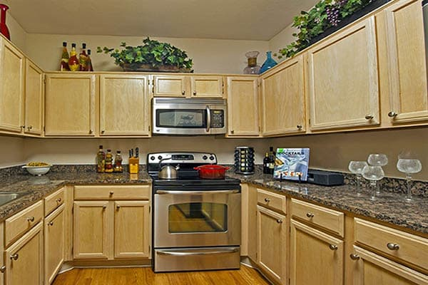 Kitchen At The Westmore at Bellaire Apartments