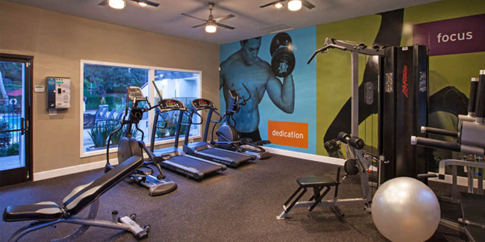 fitness center at Avana La Jolla Apartments