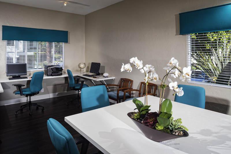 Business Center at Avana La Jolla Apartments in San Diego, CA