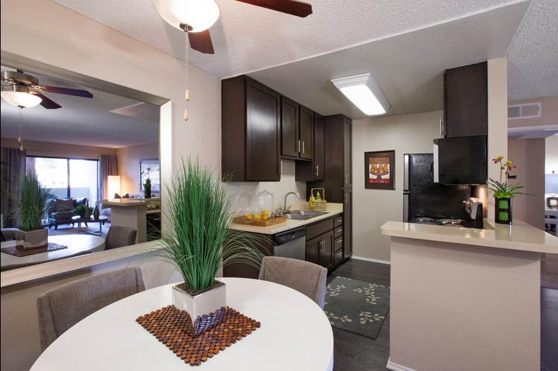 Dining And Kitchen Room at Avana La Jolla Apartments in San Diego, CA