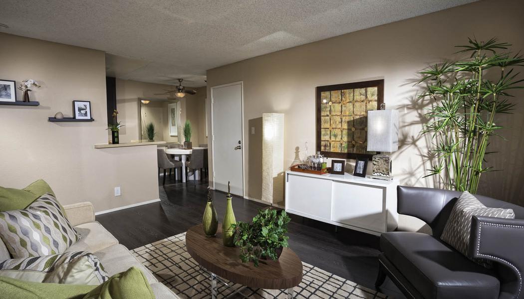 Living room at Avana La Jolla Apartments in San Diego