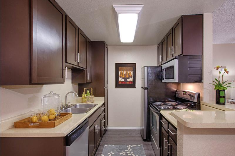 Fully Equipped Kitchen at Avana La Jolla Apartments in San Diego, CA