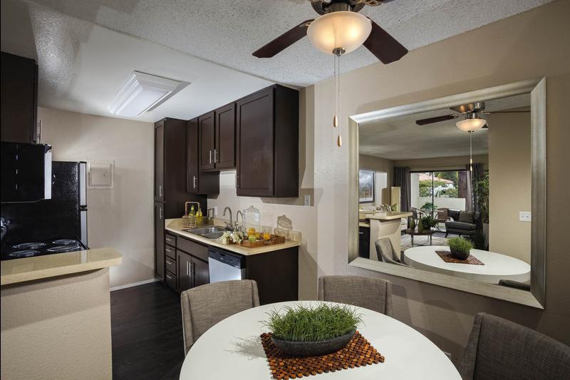 Kitchen Dining Room Combo at Avana La Jolla Apartments in San Diego, CA