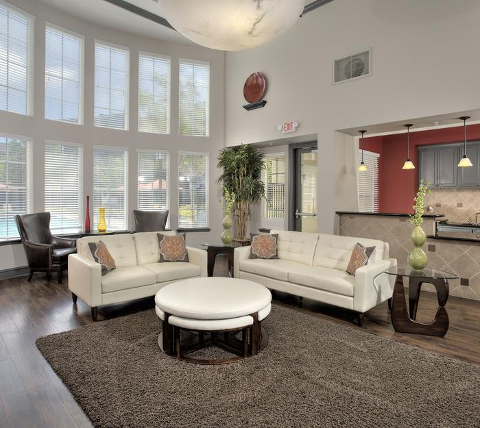 Our floor plans at The Tides Apartments in Richmond are open and spacious, with 14' ceilings!