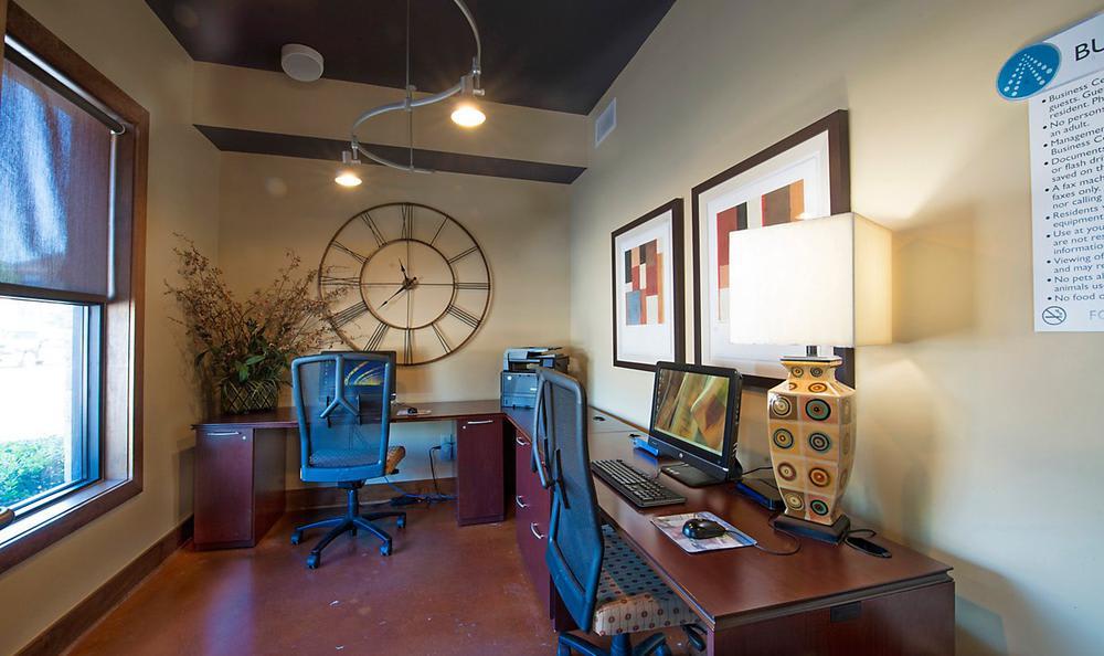Business Center at Avana McKinney Ranch Apartments in McKinney, TX