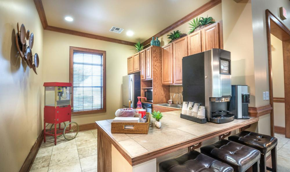 Clubhouse Kitchen at Avana Stonebriar Apartments in The Colony, TX