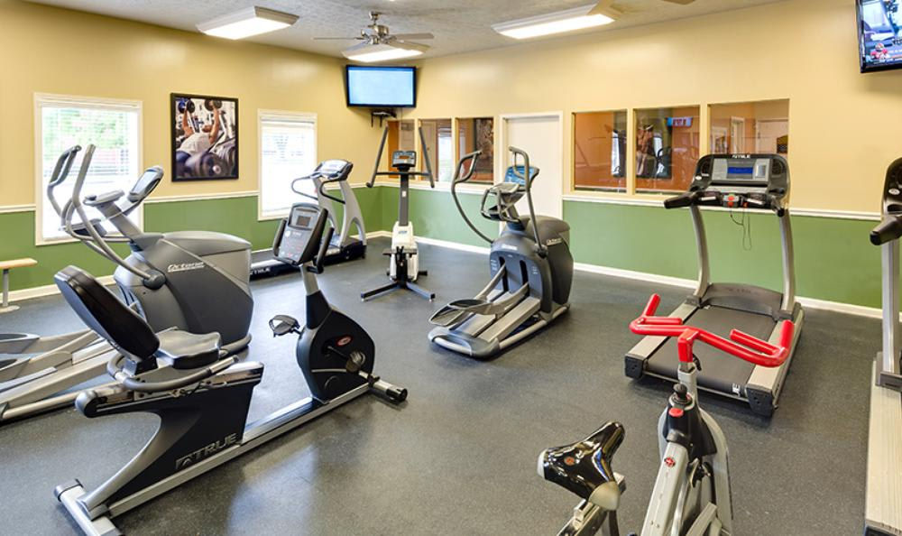 Fitness Center at Mallard Crossing Apartments in Louisville, KY