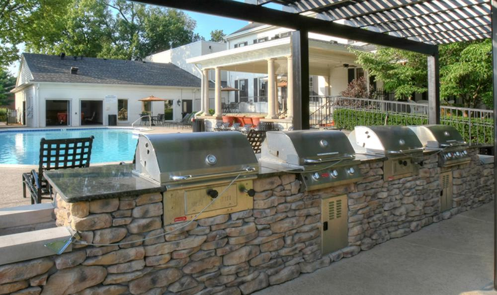 Grilling Area at Mallard Crossing Apartments in Louisville, KY