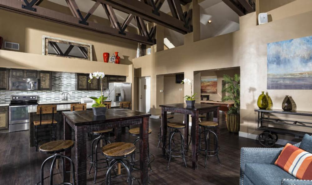 Clubhouse Kitchen at Avana San Clemente Apartments in San Clemente, CA