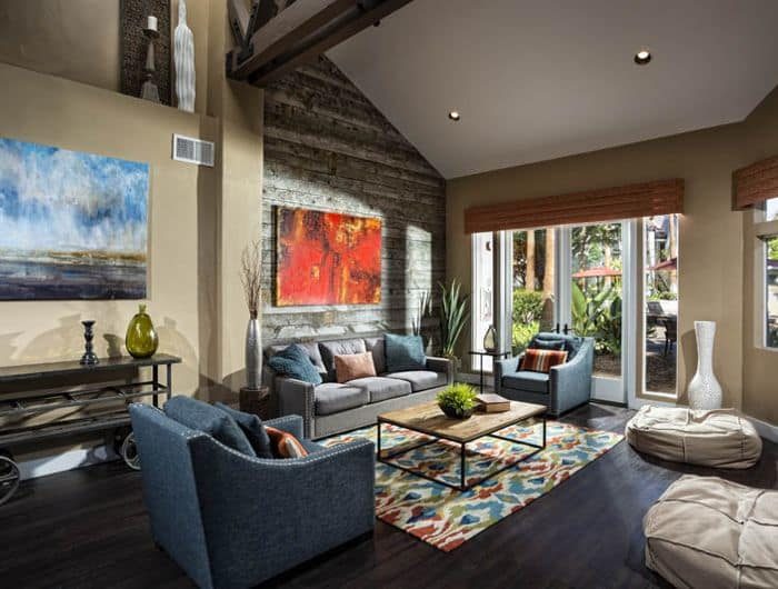 Living room at Avana San Clemente Apartments in San Clemente