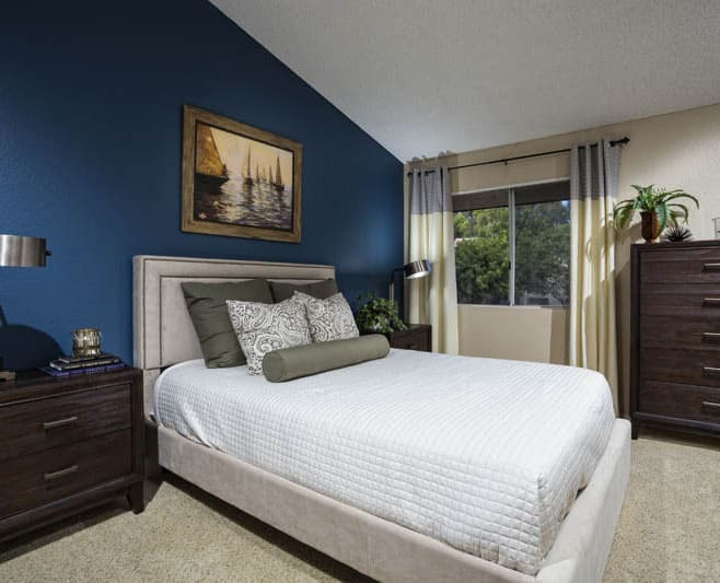 Master bedroom at Avana San Clemente Apartments