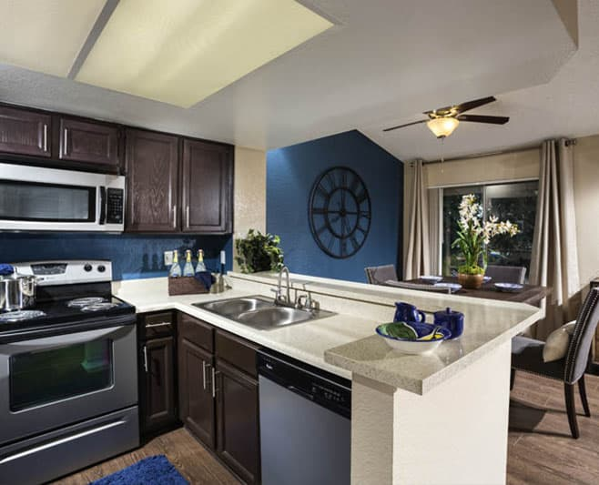 Spacious kitchen at Avana San Clemente Apartments