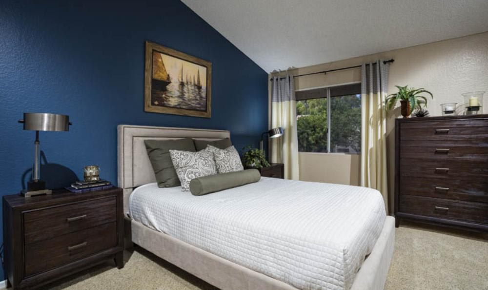 Well Decorated Bedroom at Avana San Clemente Apartments in San Clemente, CA