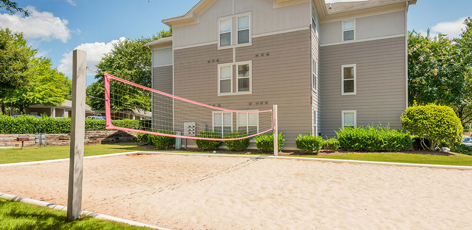 Sand volleyball at Edinborough Commons Apartments
