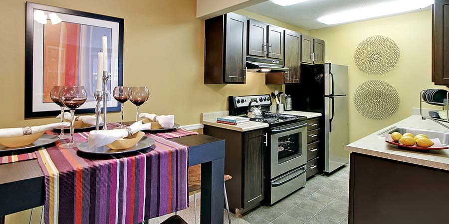 Kitchen at The Mill at Mill Creek Apartments