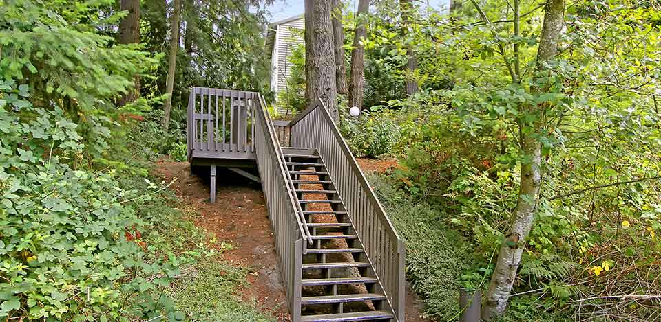 The surrounding area of The Mill at Mill Creek Apartments is a wonderful place for casual strolls.
